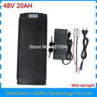Batería de 48 V 20AH 1000 W 48 V rack trasero batería 48 V 20AH uso 2200 mah 18650 celular 30A BMS 2A cargador envío gratis