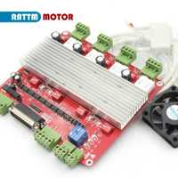 De la UE. De alta velocidad optoacoplador 3 eje o CNC de 4 ejes controlador TB6560 controlador de motor paso a paso de la Junta y DB25 bable