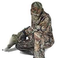 Caliente-venta impermeable al aire libre del ejército conjunto camuflaje biónico deja camuflaje pájaro cinco piezas Set caza ropa militar uniforme