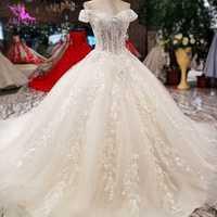 AIJINGYU 2019 vestidos de novia vestidos plisados diseñadores nupciales lujo más tamaño vestido ruso con encaje vestido de novia 2018