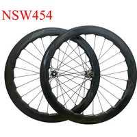 Dimple freno de disco de ruedas de carbono 45mm 50mm 58mm 80mm Ciclocross rueda sin cámara cubierta NSW454 de bicicleta de carbono ruedas Novatec 791, 411