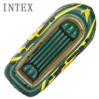 Intex 68351 barco con remos barco inflable kayak engrosada 4 personas barcos de pesca de caucho dingey