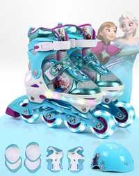 Niños patines en línea patines patinaje Zapatos casco engranaje protector de la rodilla ajustable lavable duro Ruedas skate Zapatos para 3-10year