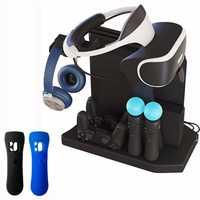 Para PS4 VR PS4 Pro Slim PSVR PS4 Vertical, ventilador de refrigeración, cargador y carga soporte de exhibición