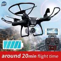KY101 WiFi FPV de ángulo ancho 720 P/1080 P Cámara Selfie RC Drone de altitud modo sin cabeza 3D voltea una retorno clave Quadcopter