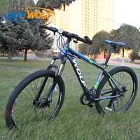 27,5 pulgadas no-bicicleta plegable de aluminio Marco de bicicleta de montaña bicicletas 24 velocidad frenos de disco unisex bicicletas MTB 2 colores par de bicicleta
