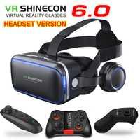 UZQi Shinecon 3 D VR caja casco de realidad Virtual de gafas Smartphone Stere cartón casco VR gafas 3D gafas inteligentes teléfono