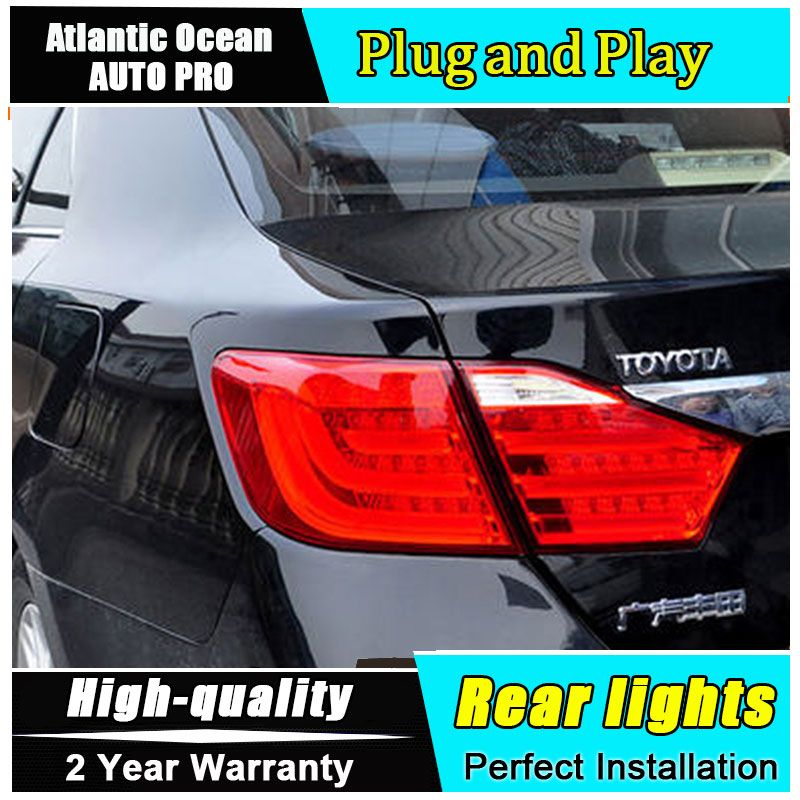 SRO US $285.93 Car Styling LED Tail Lamp for Toyota Camry Taillights 2012-2014 Camry Rear Light DRL+Turn Signal+Brake+Reverse auto Accessories