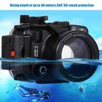 Mcoplus G7XII 40 m/130f Cámara impermeable subacuática carcasa bolsa para cámara Canon G7XII DSLR