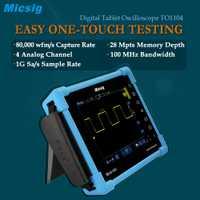 Tableta Digital osciloscopio TO1104 100 MHz 4CH 28 Mpts osciloscopios de diagnóstico automotriz pantalla táctil digital osciloscopio de ventas