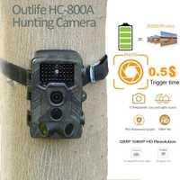 Outlife HC-800A infrarrojos rastro cámaras 1080 P HD Digital cámara de caza impermeable de la visión nocturna infrarroja de Vida Silvestre Scouting