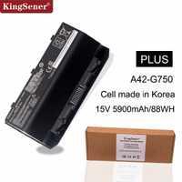 KingSener Corea celular A42-G750 batería del ordenador portátil para ASUS ROG G750 serie G750J G750JH G750JM G750JS G750JW G750JX G750JZ 15 V 88WH