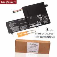 KingSener Nouveau L14M3P21 L15L3PB0 batterie d'ordinateur portable Pour Lenovo Flex 3 1470 1570 Flex 4 1470 Yoga 500 500-15 ISK Edge 2-1580 L14L3P21