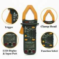 MS2101 medidor de abrazadera de rango automático multímetro digital DC AC voltaje resistencia frecuencia luz trasera