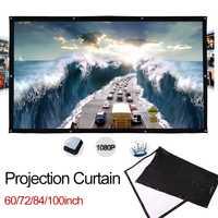 100 pulgadas PVC HD pantalla del proyector cortina bodas sombra Títeres escuela vestíbulos Oficina pantalla de proyección de cine en casa
