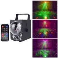 YSH Disco de luz láser RGB proyector luces de fiesta DJ efecto de iluminación de LED para el hogar Decoración de la boda