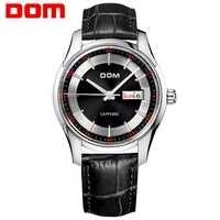 Reloj de pulsera de cuero de negocios de cuarzo resistente al agua de lujo para Hombre, Reloj de pulsera con fecha automática, Reloj para Hombre M-517