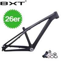 2018 BXT chino 3 K mtb carbono marco 26er de carbono marco 26 freno de disco de niños bicicleta de montaña 14 pulgadas auriculares + abrazadera BB92