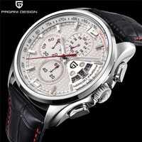 Los hombres de cuarzo relojes PAGANI diseño de marcas de lujo de moda tiempo movimiento militar Relojes de Cuero relojes de cuarzo reloj masculino