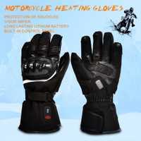 Salvador de la motocicleta caliente guante en las carreras de moto invierno deportes al aire libre de la calefacción eléctrica nudillo EN13594 3 niveles