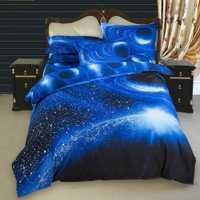 Funda de edredón 3D Galaxy juego de cama doble/2 piezas reina/3 piezas/4 piezas ropa de cama conjuntos de ropa de cama temática espacio exterior universo