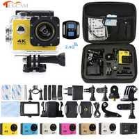Tekcam F60R 4k WIFI cámara de acción remota 1080p HD 16MP GO PRO Estilo casco Cámara 30 metros impermeable deportes DV Cámara