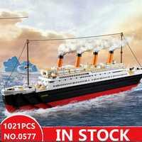 Sluban 0577 legoed ville titanic RMS Bateau Navire met les modèle kits de construction blocs bricolage loisirs Éducatifs jouets pour enfants pour enfants