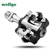 Wellgo M19 aleación de aluminio MTB bicicleta de montaña Pedal rodamiento sellado pedal Clipless pedales SPD moto