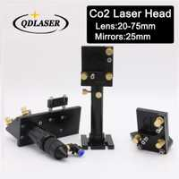 CO2 cabeza láser integradora espejo soportes de láser, lente Focal 20mm-75mm y reflectante 25mm