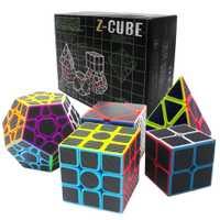 Regalo de Cumpleaños 5 unids/set 2x2x2 3x3x3 velocidad Skew Cube Megaminx cubo mágico profesional para cubos de niño ZCUBE 2*2 3*3 en 3