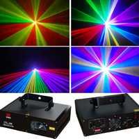 Proyector láser 600 MW RGB láser a color de Iluminación dj para fiesta de discoteca