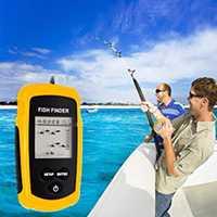 100 m profundidad buscador de los pescados pesca electrónico Sonar Fish Finder Sonar portátil con cable LCD peces de profundidad buscador de alarma