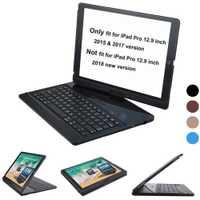Para iPad Air, iPad pro 12,9 caso teclado 2017 y 2015 de 360 grados giratorio teclado Bluetooth inalámbrico Auto dormir/despertar soporte