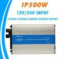 Onduleur à onde sinusoïdale Pure EPever 500W 12 V/24 V entrée 110VAC 120VAC 220VAC 230VAC sortie 50HZ 60HZ convertisseur haute efficacité IPower