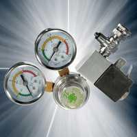 Regulador CO2 eficiente con válvula de retención contador de burbujas válvula magnética solenoide acuario válvula reductora de presión de dióxido de carbono