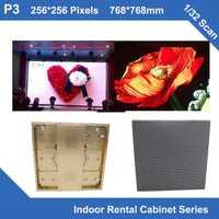 Teeho P3 interior oro cepillado gabinete de aluminio 768mm * 768mm 1/32 Scan vídeo Videotron alquiler fijo boda escuela incluso