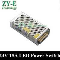 1x360 W 24 V 15a alimentación Fuentes de alimentación conmutada conductor tira de luz LED display ac110v-240v transformador 24 V envío libre