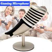 Pro Juego de escritorio micrófono con soporte Portable Audio Video micrófonos para ordenador portátil Mic