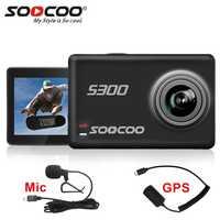 Cámara de Acción SOOCOO S300 4 k deporte bajo el agua con micrófono externo de Control remoto GPS pantalla táctil estabilización de imagen