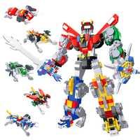 HSANHE creador Robot Defender universo Voltron bloques de construcción juegos de ladrillos Trans película niños juguetes Marvel Legoings compatibles
