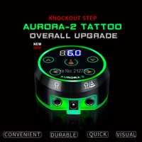 Nueva fuente de alimentación profesional Mini Critical AURORA II LCD tatuaje con adaptador de corriente para máquinas de tatuaje giratorio y bobina