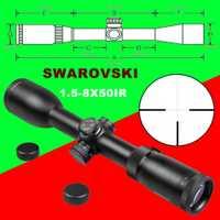 Imitación de Swarovskl 1,5-8x50 IRZ3 visores F15 Red Dot retícula caza Riflescope Rifle vista óptica caza ámbitos