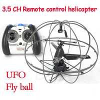 3.5CH gyro helicóptero RC UFO drone RC quadcopter interior Niño juguetes helicoptero Flying bola bebé juguetes para niño motor sin escobillas drone