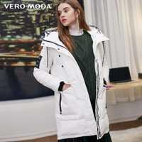 Vero Moda nuevo con capucha cartas velcro largo abajo chaqueta   318312505  