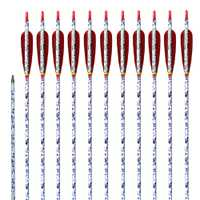 Tiro con Arco flechas de carbono 6 Paquete de diseño único de la columna vertebral/400/500/600 con el campo consejos pluma Real 29/ 30/31 pulgadas para el compuesto recurvo arcos