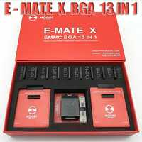 Nouveau MOORC E-MATE X E MATE PRO boîte EMATE EMMC BGA 13in 1 SUPPORT 100 136 168 153 169 162 186 221 529 254 facile jtag plus