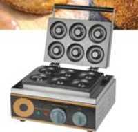 Máquina eléctrica para hacer galletas de 6 agujeros, máquina para hacer rosquillas de 1.5kw