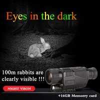 TUOBING 5x40 infrarrojos de visión nocturna telescopio fabricante al por mayor Monocular HD potentes Digital visión 16 GB memoria tarjeta