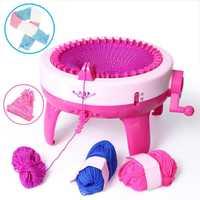 40 aguja DIY posiciones gran mano máquina de tejer telar de artesanía del sombrero de los niños de aprendizaje educativos juguete