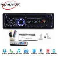 Radio de coche estéreo con Control remoto BT Bluetooth extraíble panel 1 DIN Audio música FM AUX en USB tarjeta SD CD DVD MP3 reproductor